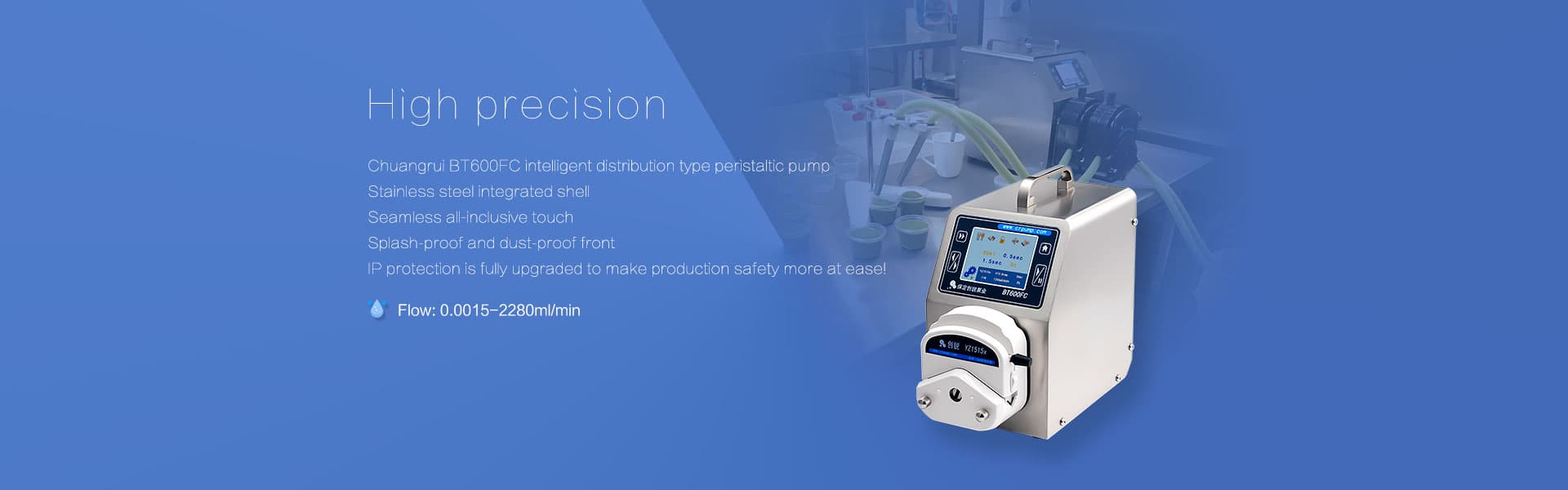 Peristaltic dosing pumps BT600FC