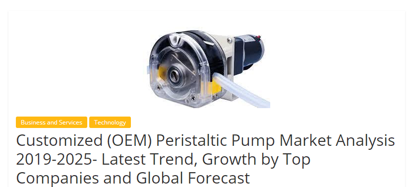 "Weeklywall-""Leading OEM peristaltic pump market company"" global ranking, baoding chuanrui ranked"