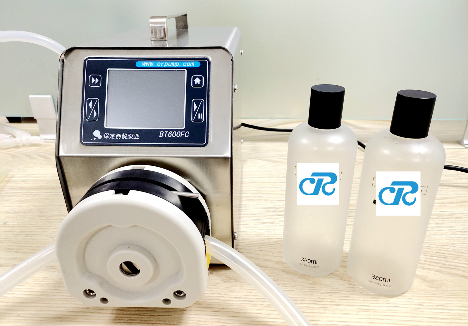 Peristaltic pump application cosmetics high precision filling