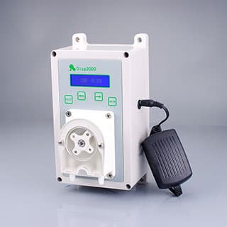 Battery powered peristaltic pump