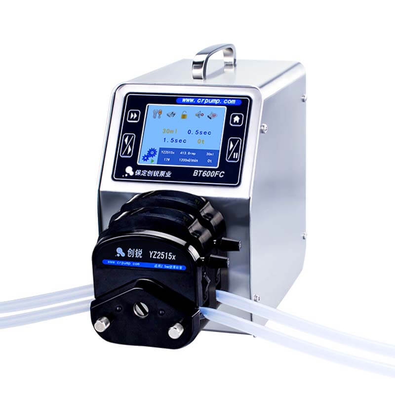 High accuracy peristaltic pump