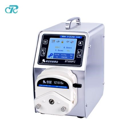 What is the difference between a basic type and a distributed peristaltic pump?
