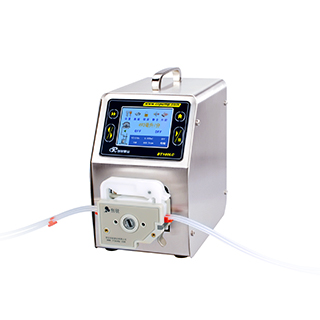 Intelligent lab scale peristaltic pump