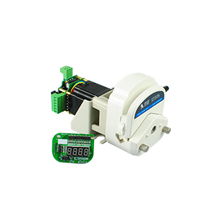 Stepper motor transfer peristaltic pump