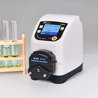 Liquid transfer intelligent bottle filling peristaltic pump with stepper motor